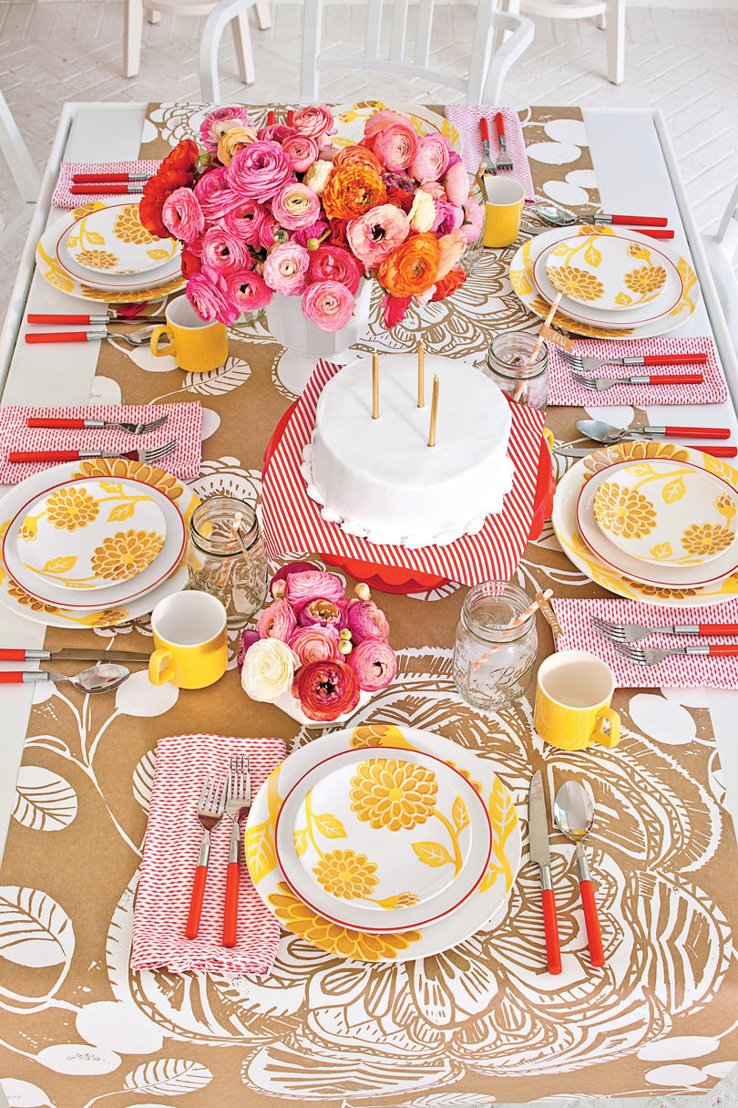 Colorful Birthday Table Setting