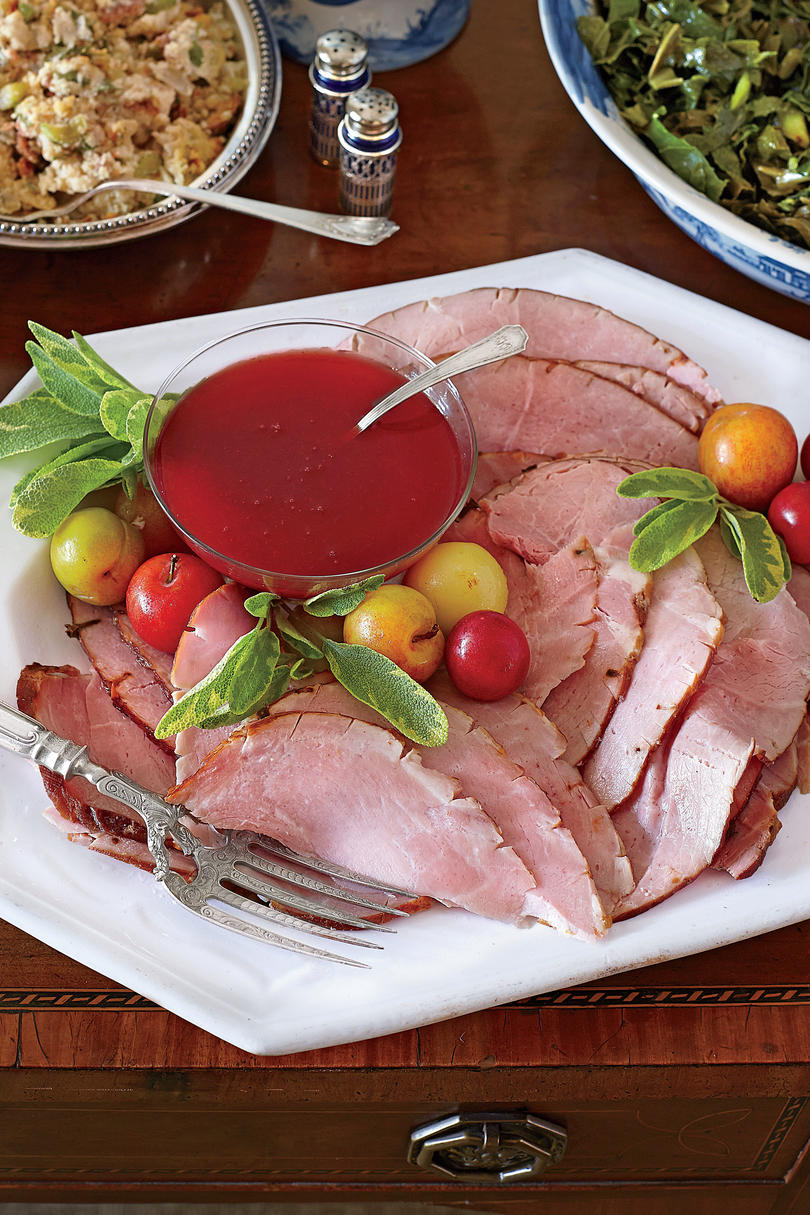 Ham Glazed with Spiced Plum Conserve
