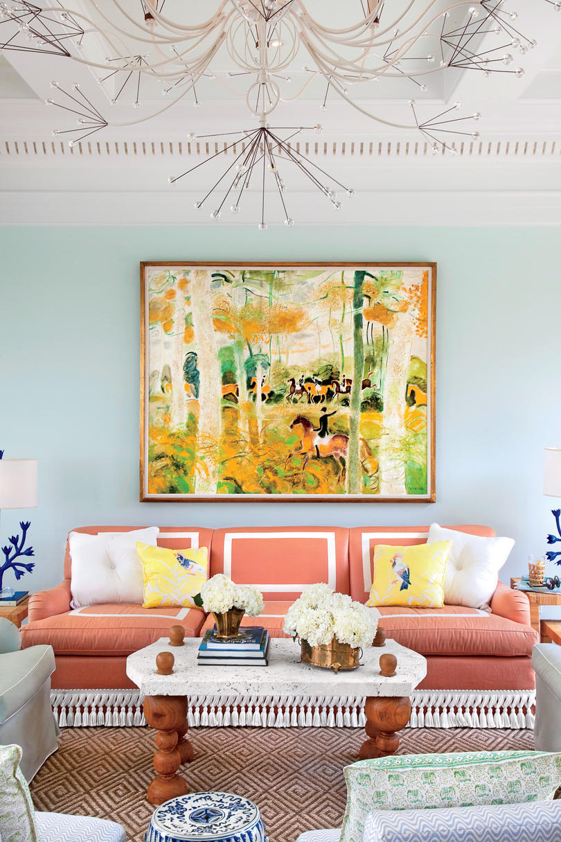 106 living room decorating ideas southern living splash on the color