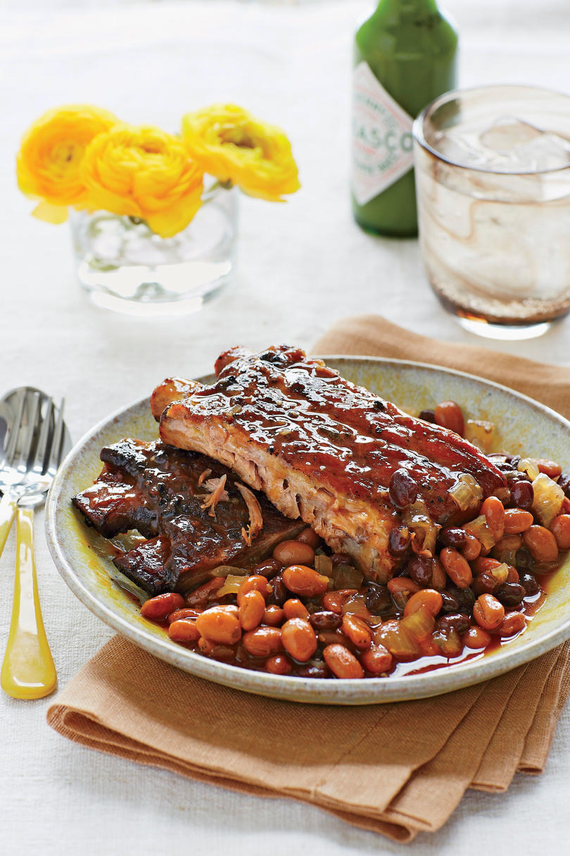 Spicy-Sweet Ribs and Beans