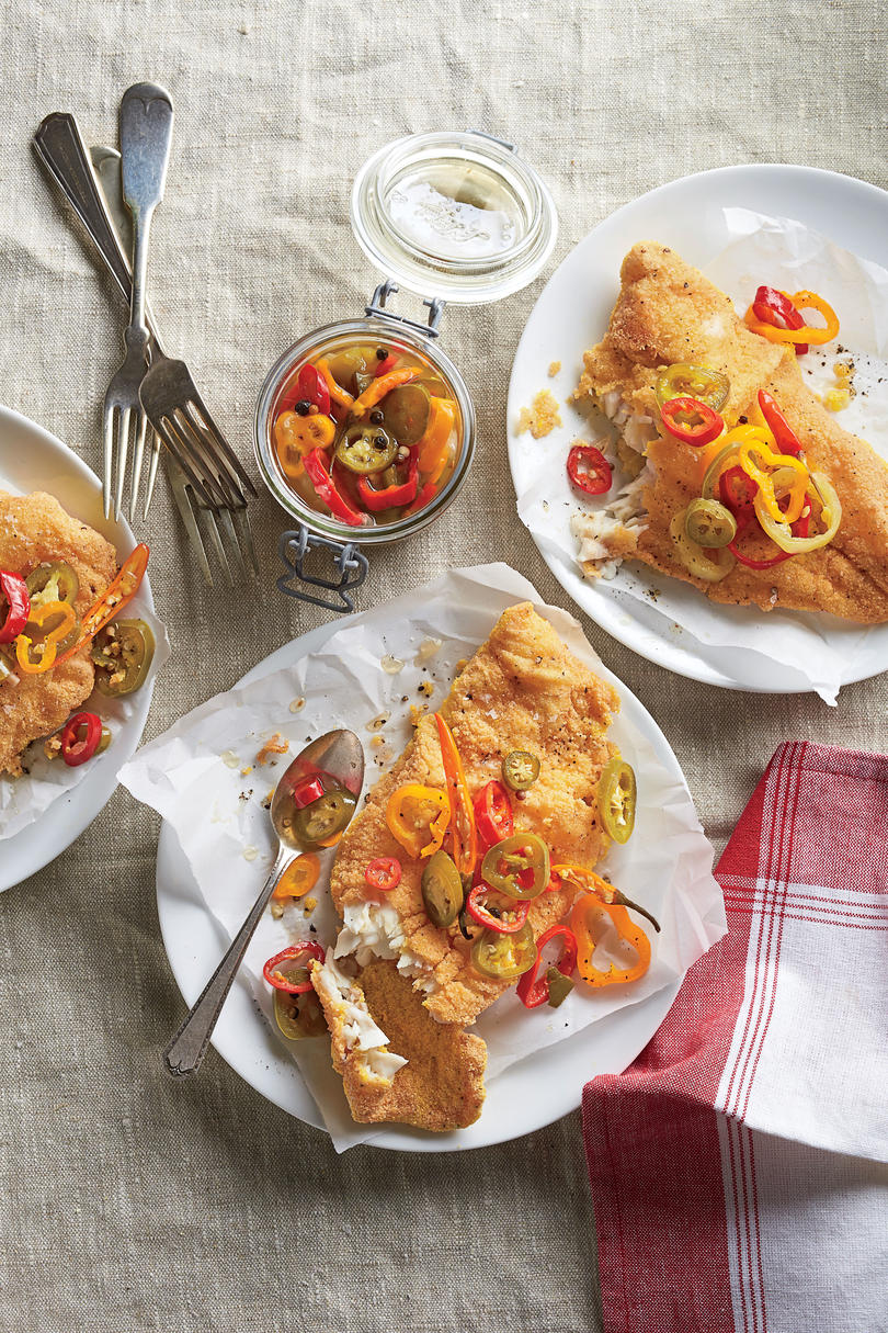 Fried Catfish with Pickled Peppers