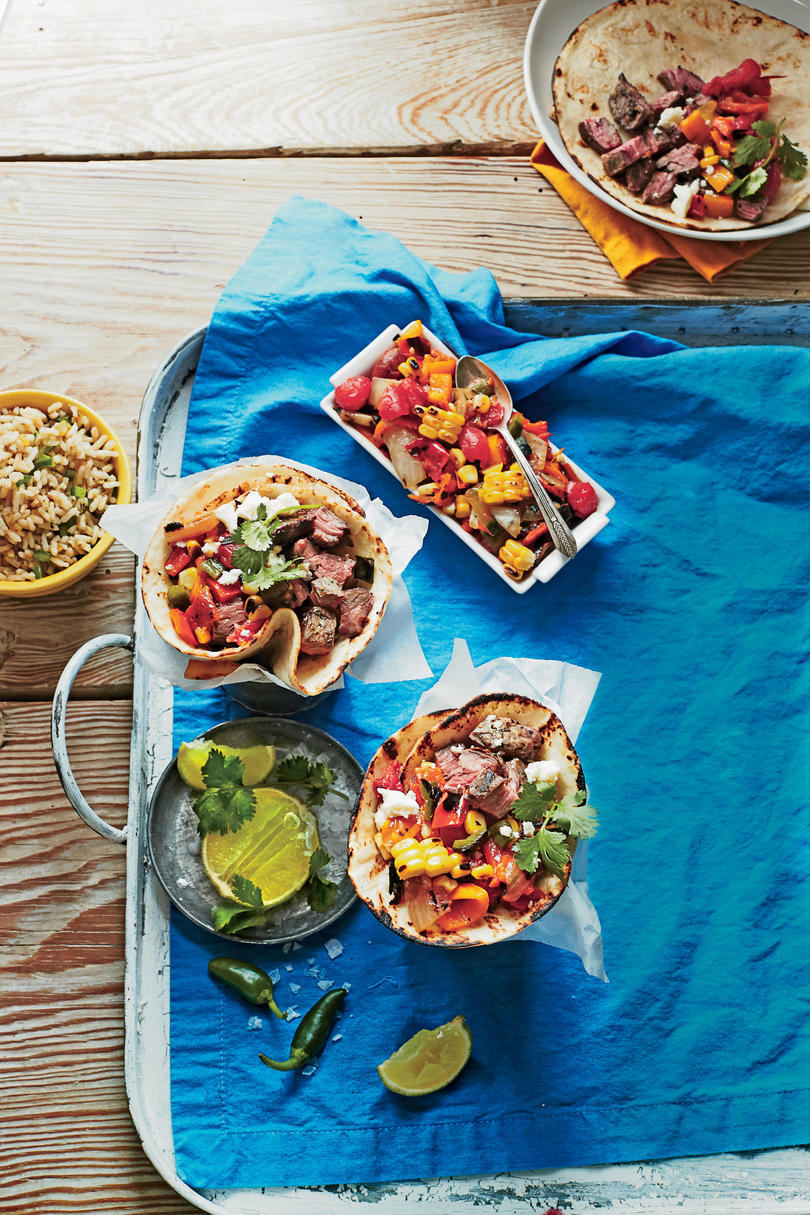 Steak Tacos with Charred Salsa
