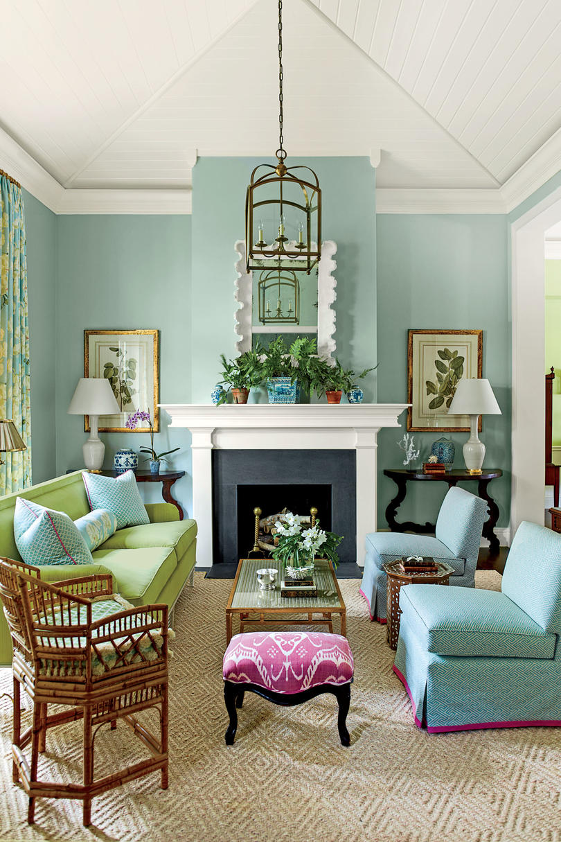 home design colors. Pull Out a Bold Accent Color 106 Living Room Decorating Ideas  Southern