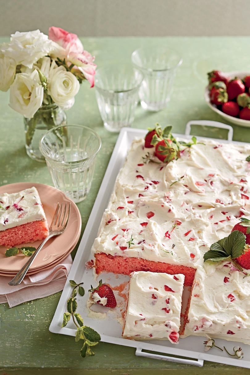 RX_1702_Strawberries-and-Cream Sheet Cake_Sheet Cake Recipes