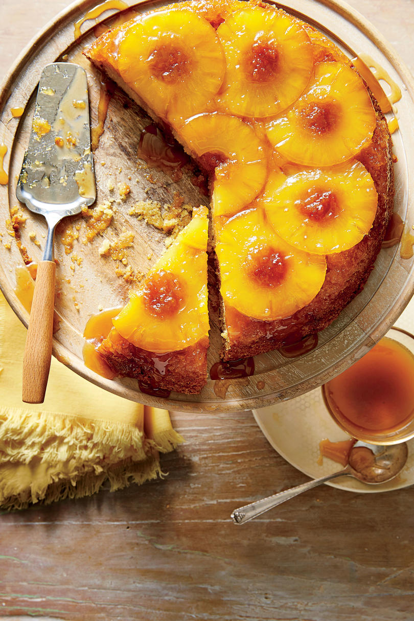Honey-Pineapple Upside-Down Cake