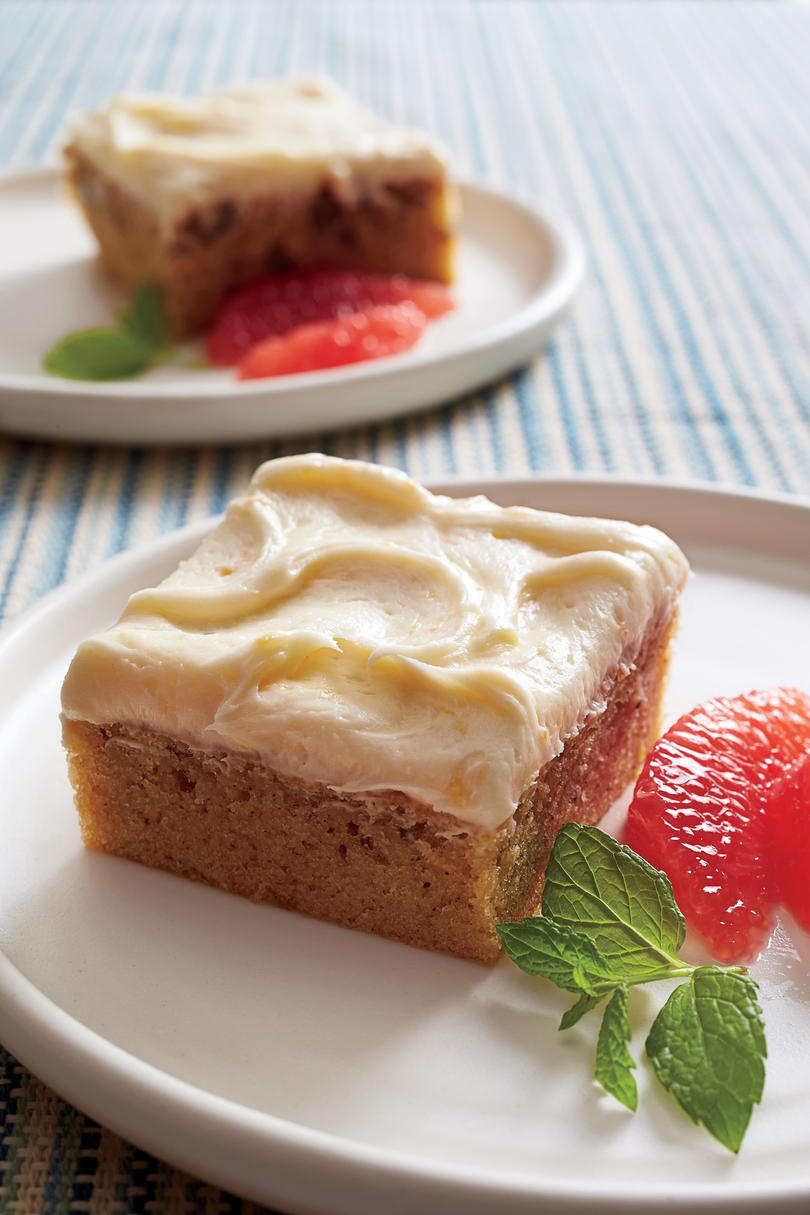 Grapefruit-Pecan Sheet Cake