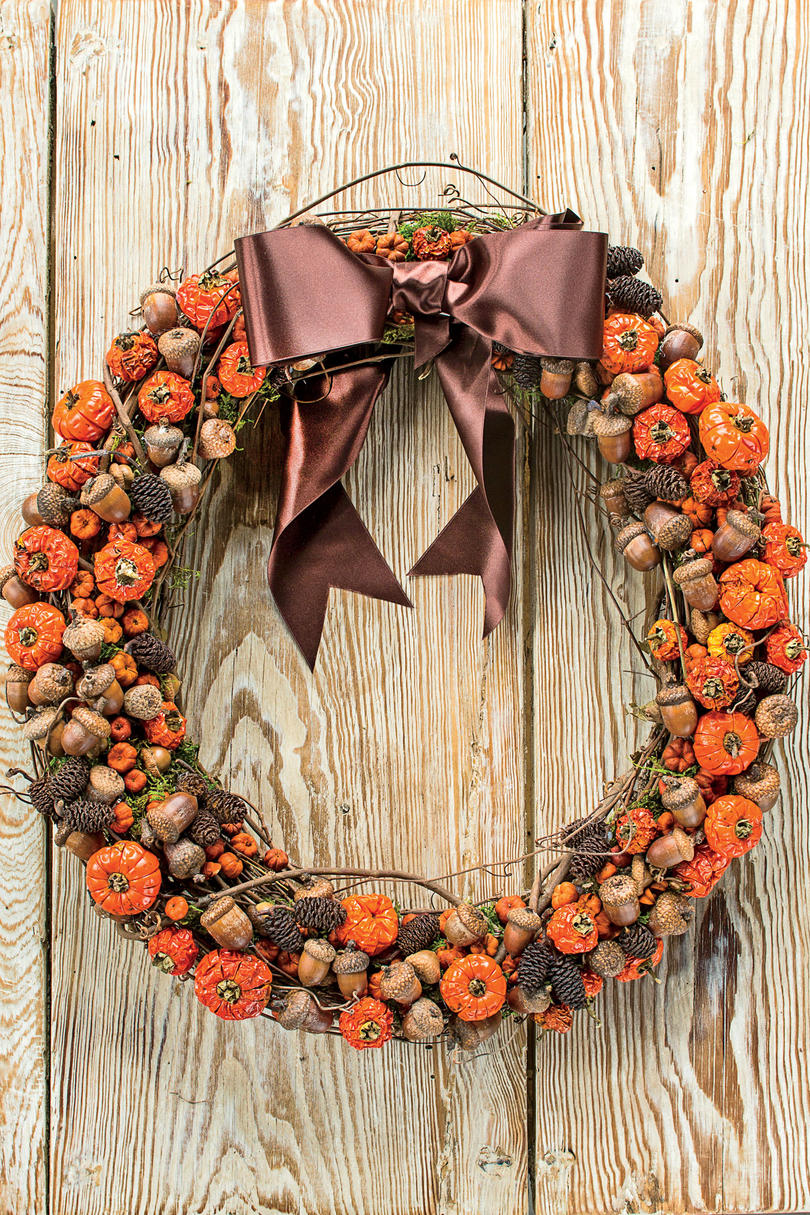 Pumpkin  and Acorn Fall Wreath