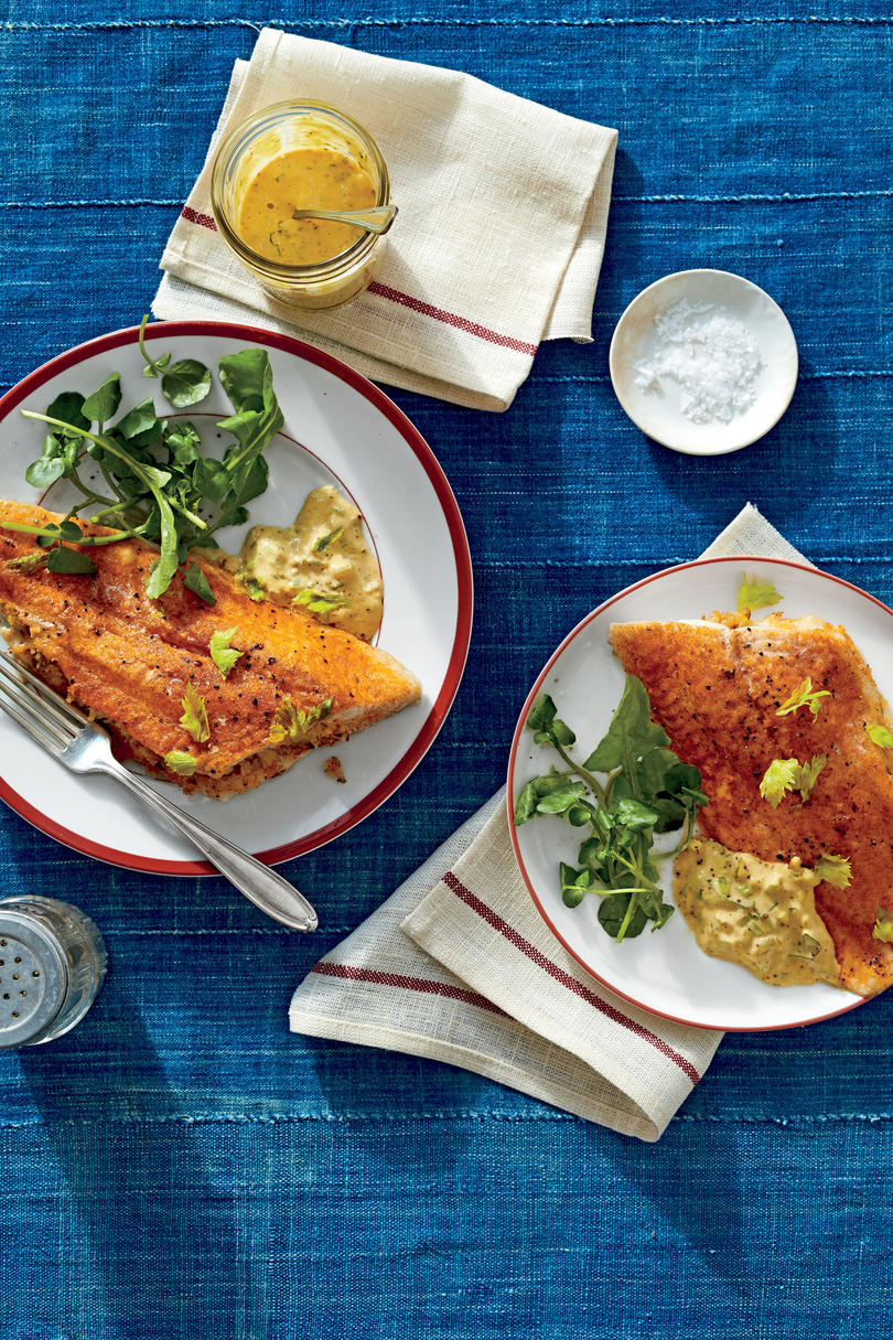 Crab-Stuffed Catfish Fillets with Cajun Rémoulade