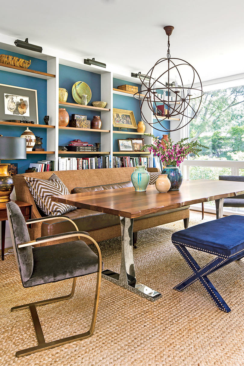 dazzling dining room before and after makeovers southern living modern rancher dining room after