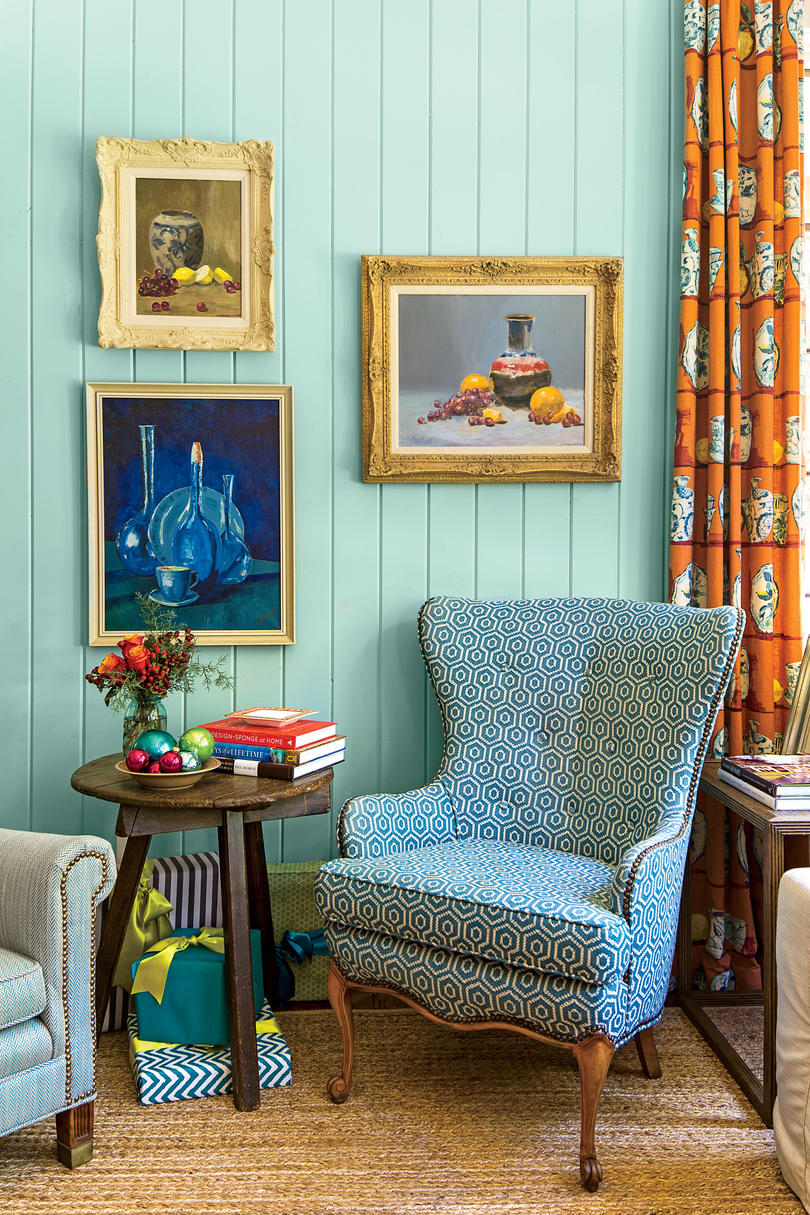 Family Room with Wing Chair