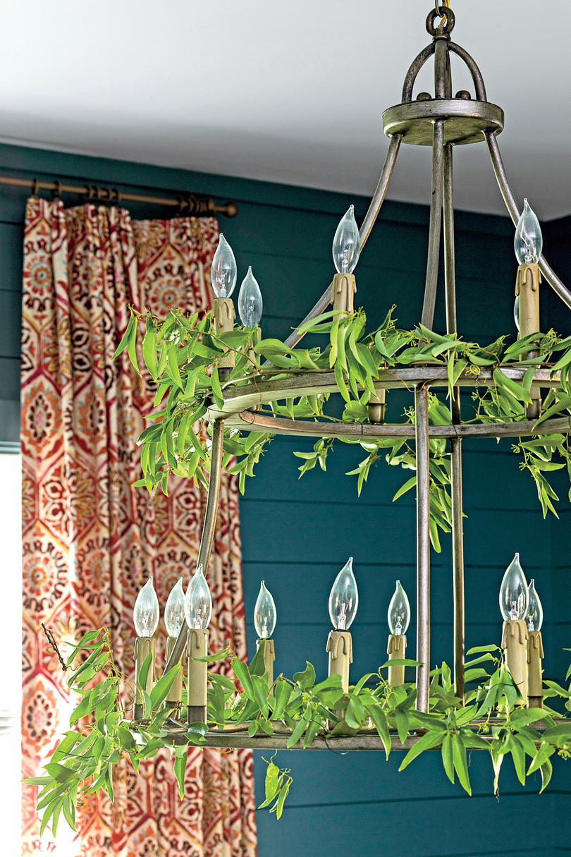 Two-Tiered Iron Chandelier