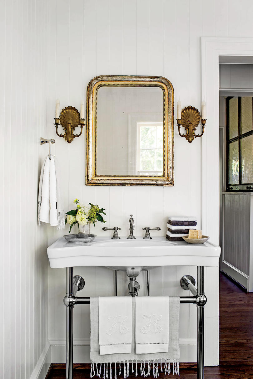 Wall-Mounted White Sink