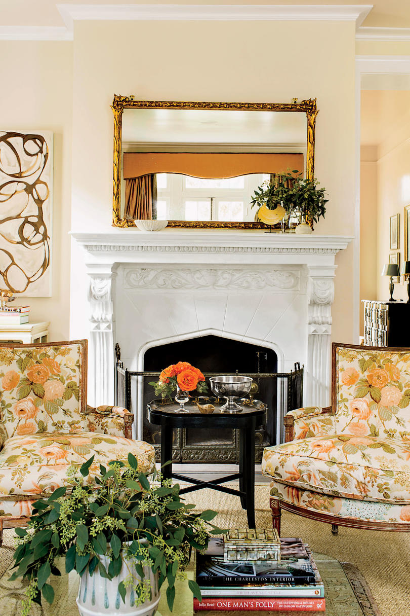 New Orleans Living Room Fireplace