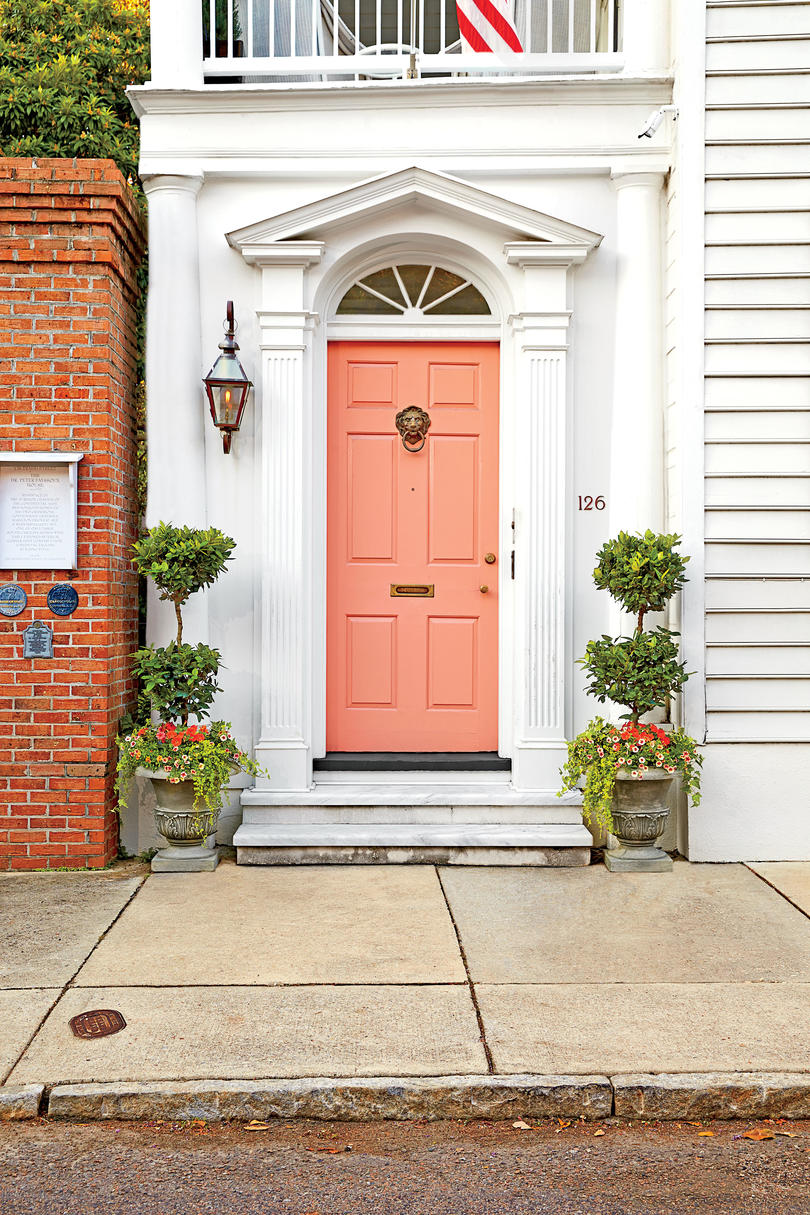 Charleston Peach Front Door