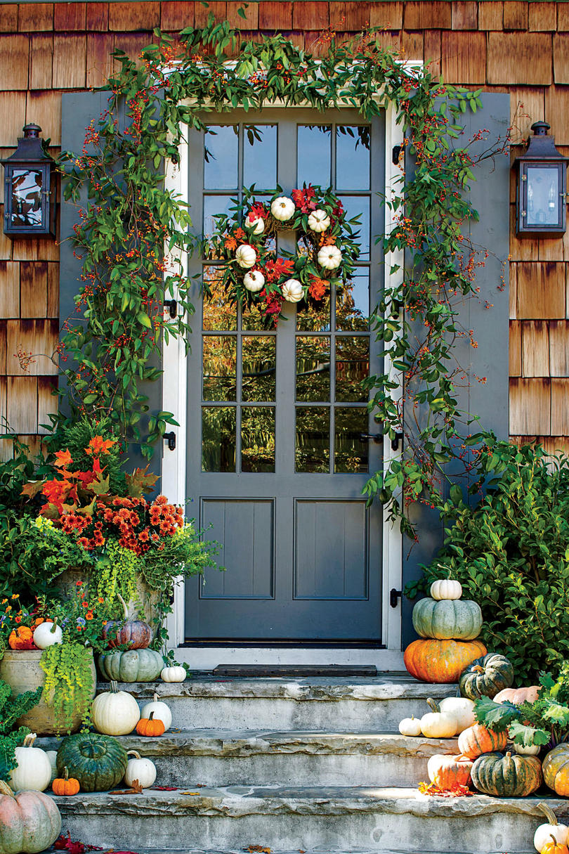 fall wreath craft ideas fall wreath ideas southern living 4429