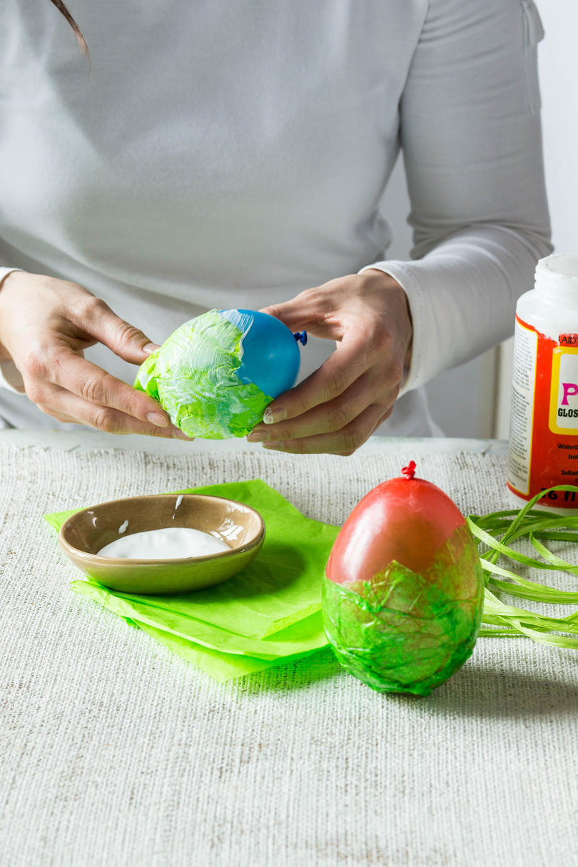 Mod Podge Easter Eggs Steps 1 and 2