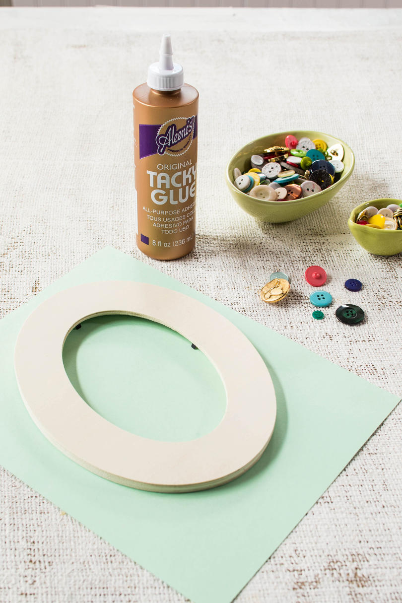 Button Picture Frame Materials