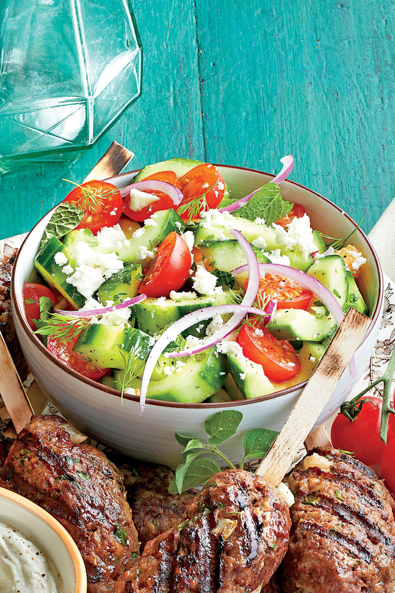 Herbed Cucumber-and-Tomato Salad