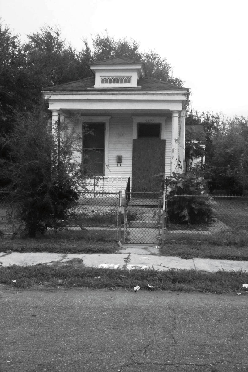 Neoclassical Revival Shotgun House Before