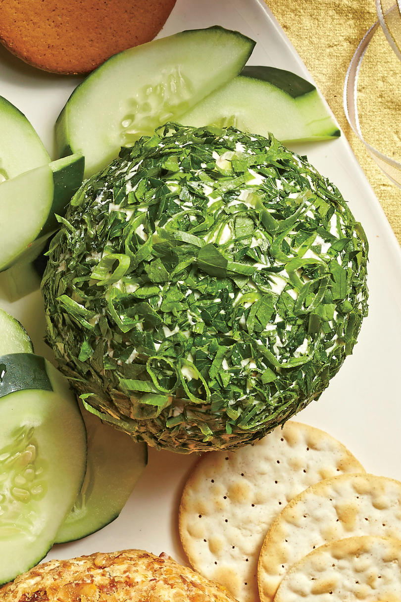 Feta-Olive-Fresh Herb Cheese Ball