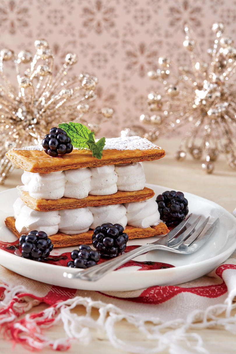 Layered Eggnog Cream with Puff Pastry