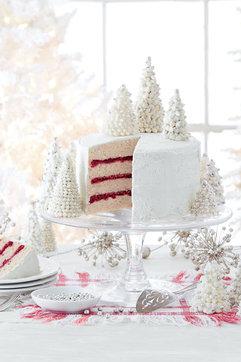 Spice Cake with Cranberry Filling