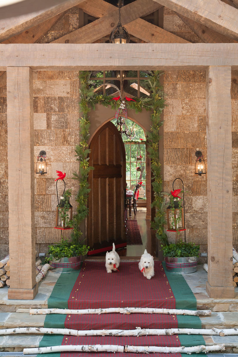 Gothic Arch Doorway with Garland