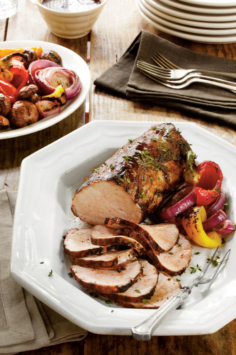 Smoked Paprika Pork Roast with Sticky Stout Barbecue Sauce