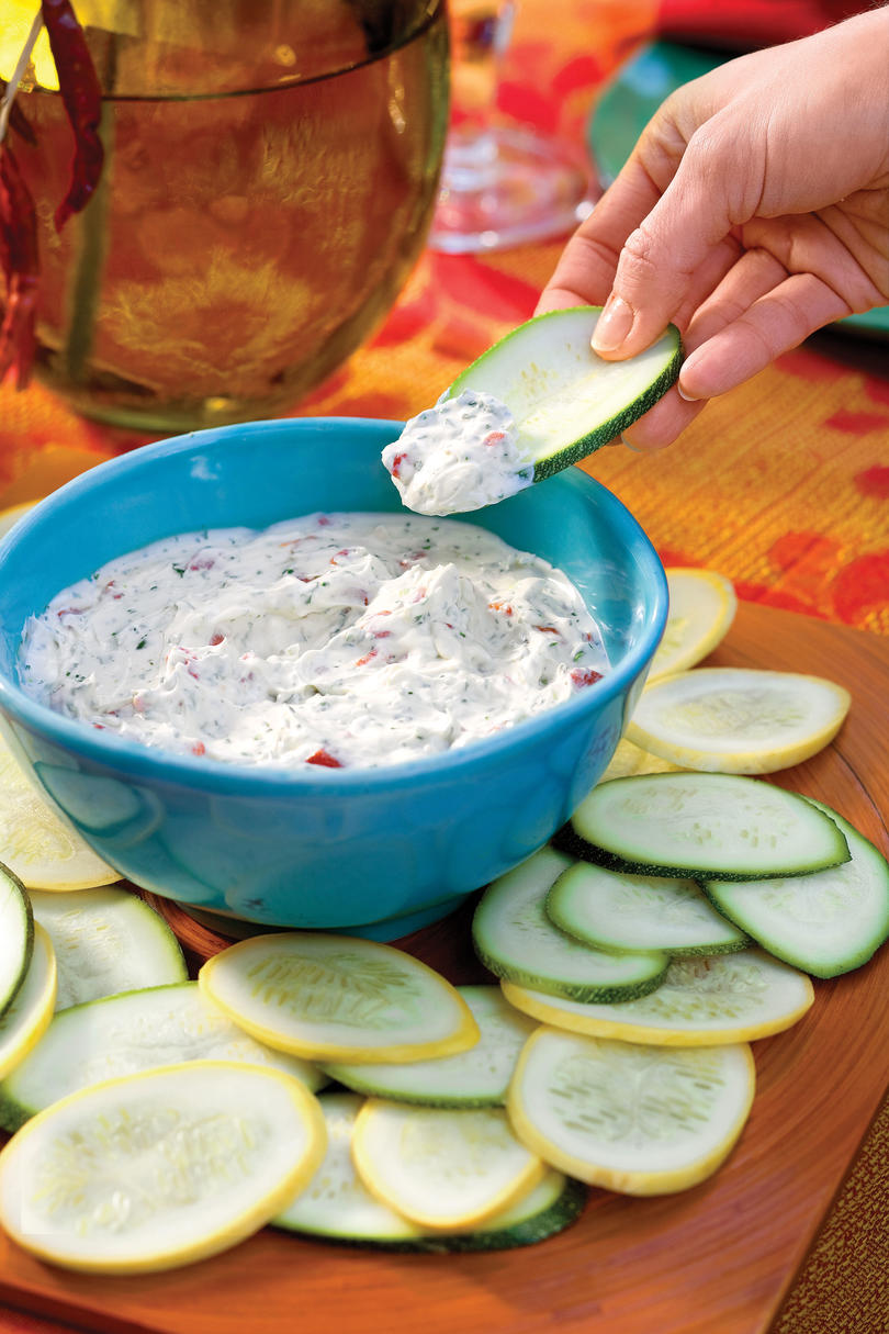 Fresh Squash Chips and Fiesta Dip