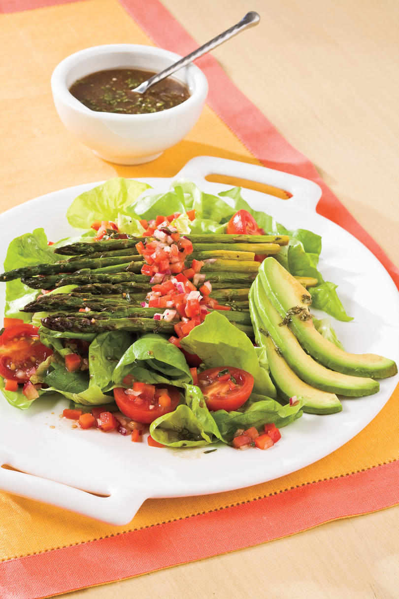 Wednesday: Roasted Asparagus Salad and Perfect Poached Shrimp