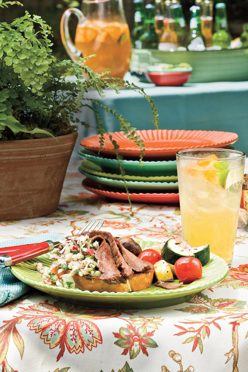 Easy Weeknight Grilling Recipes: Flank Steak With Radish Salsa
