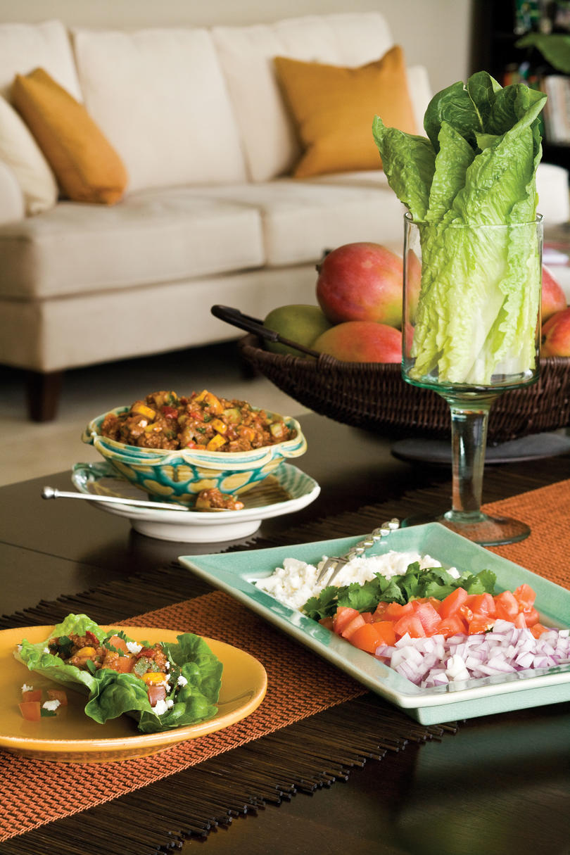 Ground Beef Recipes: Lean Green Lettuce Tacos