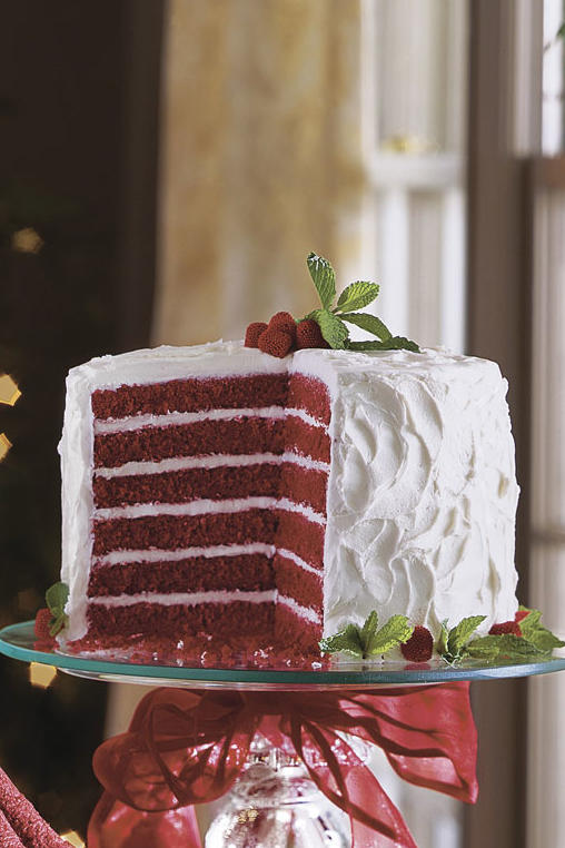 Chocolate-Red Velvet Cake
