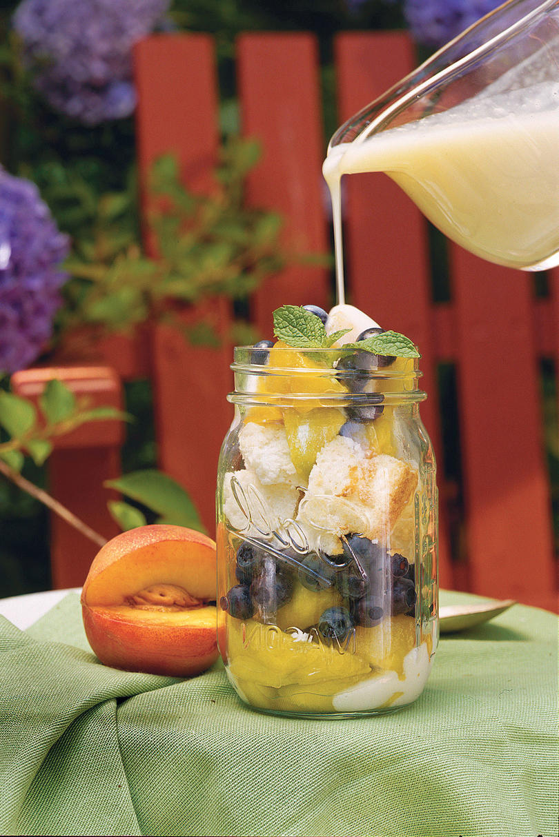 Summer Peach Recipes: Peach-and-Blueberry Parfaits