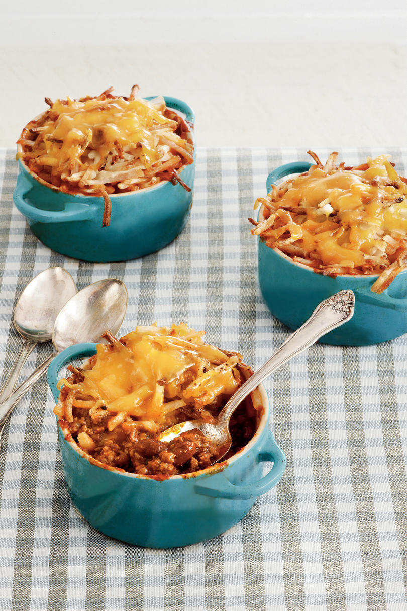 40 quick ground beef recipes southern living cheesy chili hash brown bake forumfinder Images