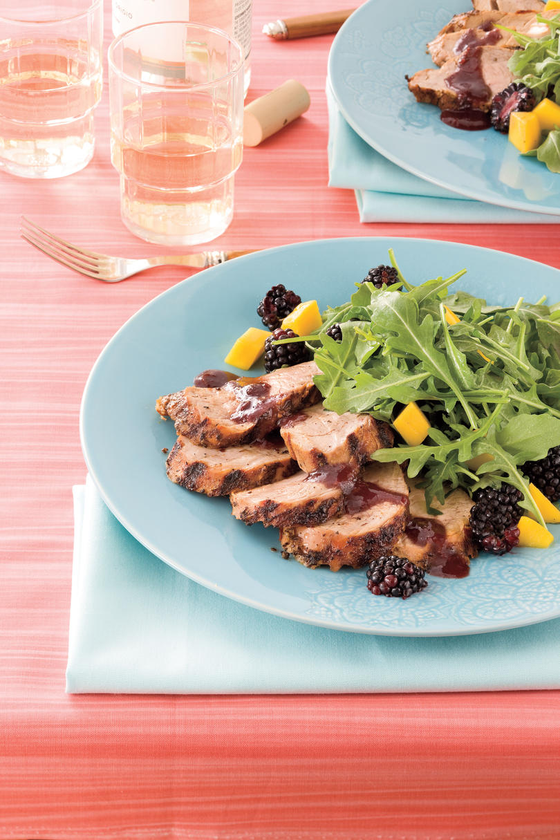 recipes pork food cutlet tenderloin suppers quick berry fresh beth roast pot fix portrait southernliving savory blackberry grilled sauce spicy