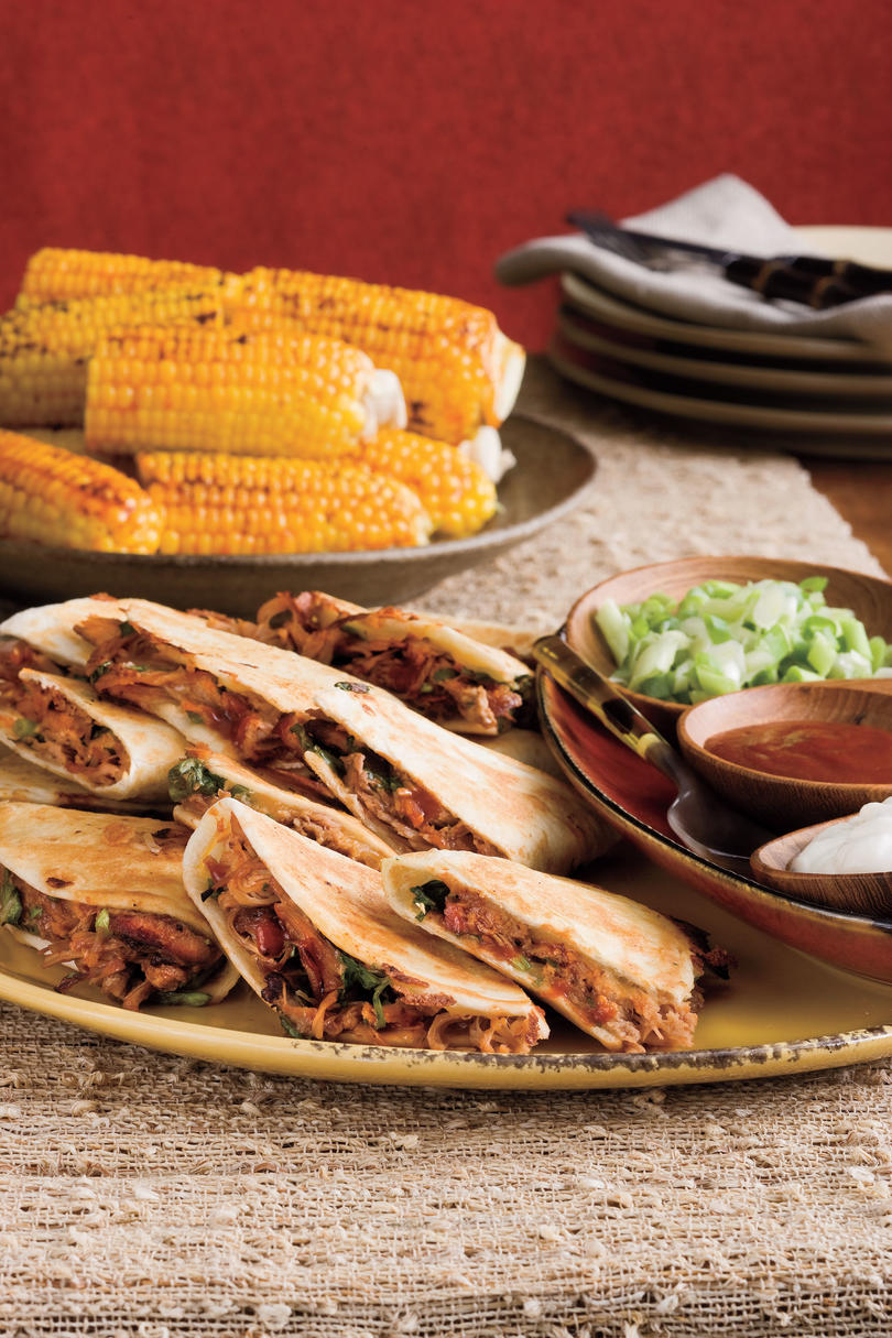 19 quick fix pork recipes southern living barbecued pork quesadillas recipes forumfinder Image collections