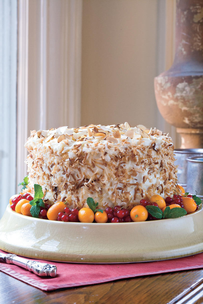 Coconut-Almond Cream Layer Cake