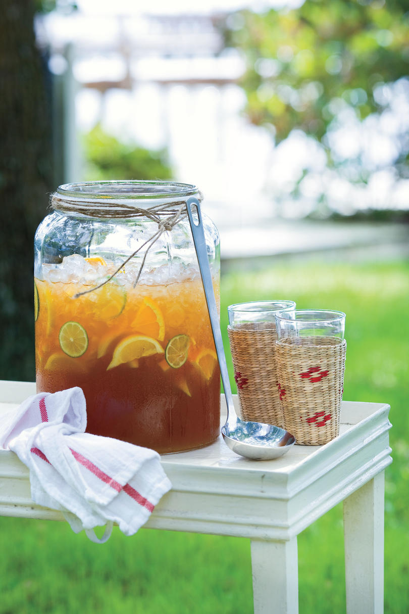 Punch and Cocktail Summer Drink Recipes: Lemonade Iced Tea