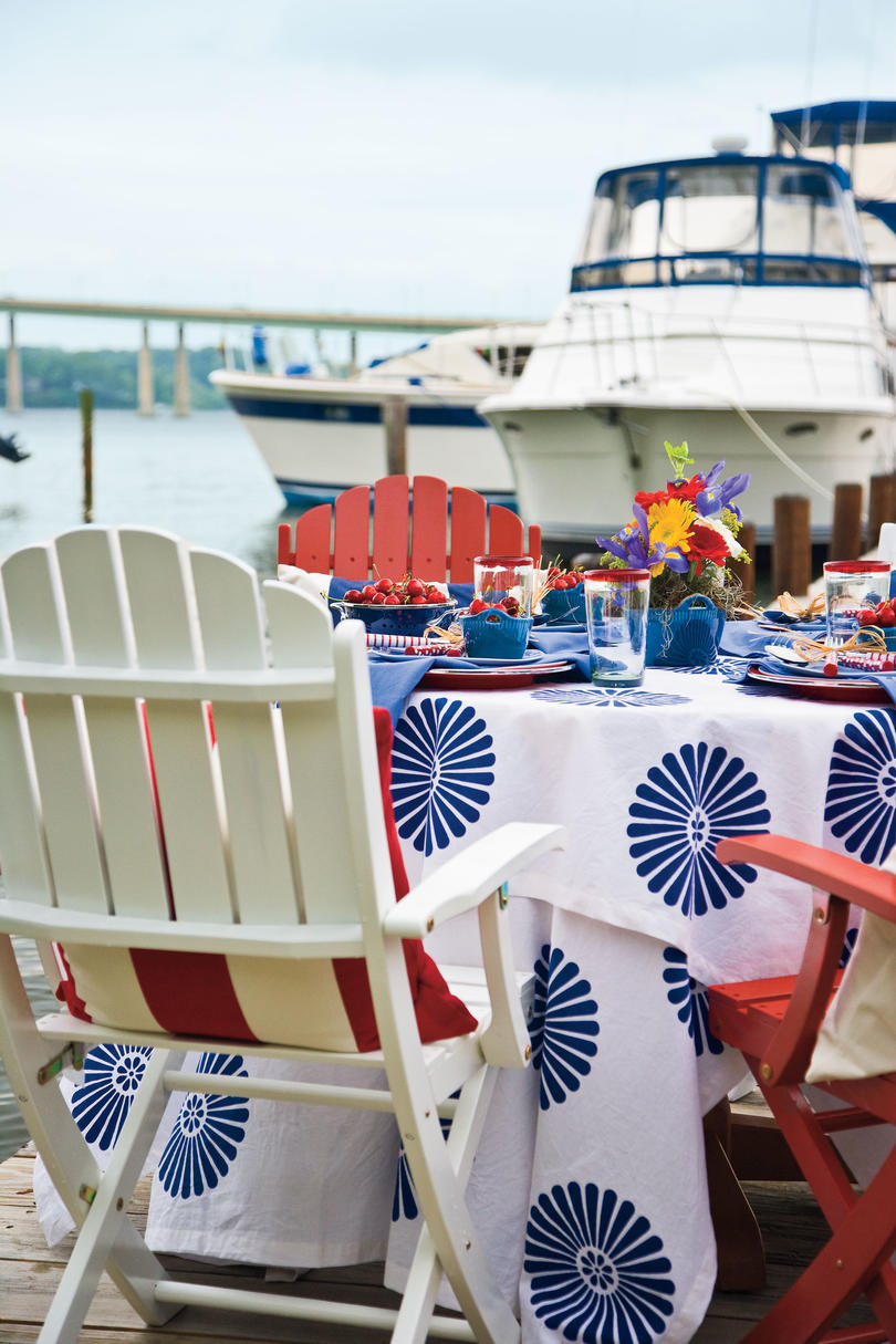 Table by the Chesapeake Bay