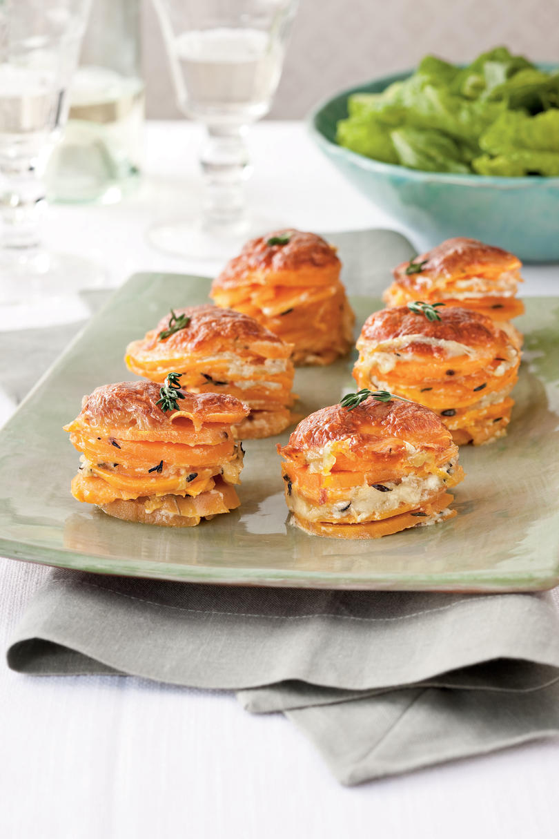 Your Way: Scalloped Sweet Potato Stacks