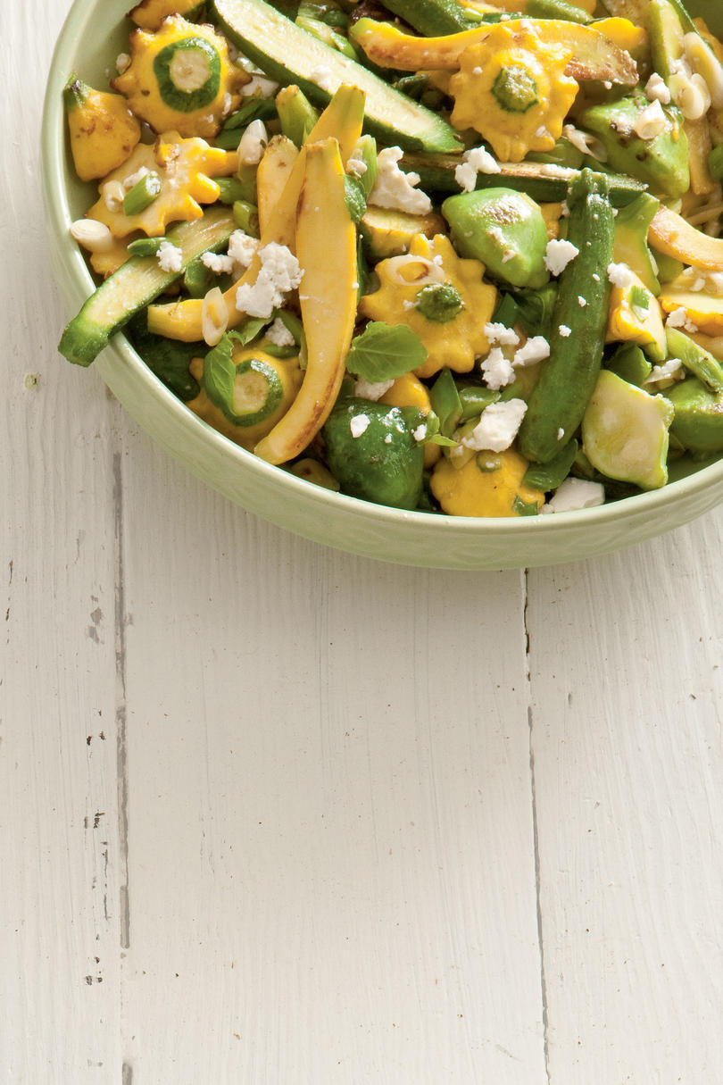Sautéed Baby Squash and Leeks