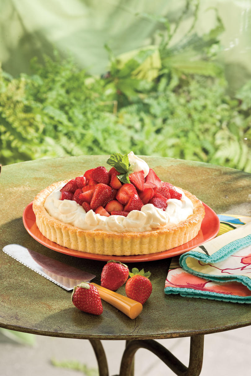 AprilStrawberry-Orange Shortcake Tart