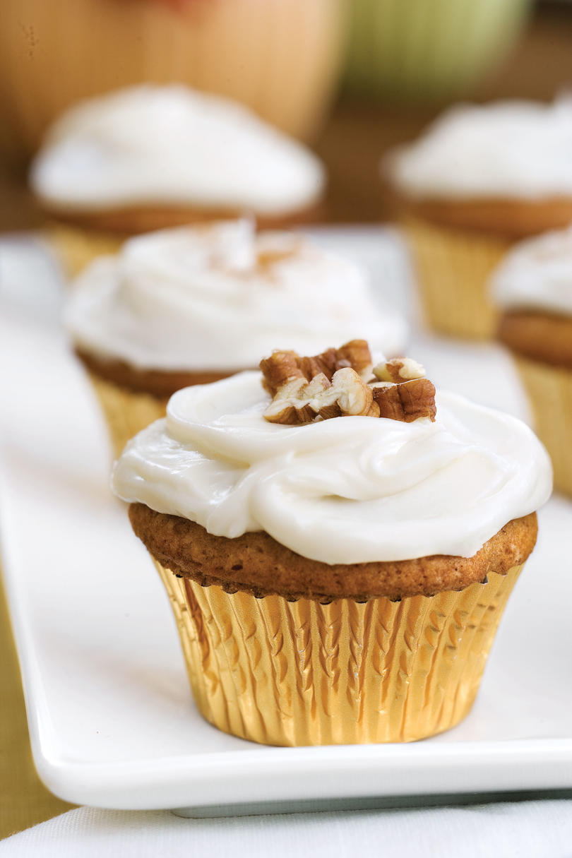 Pecan Recipes: Sweet Potato-Pecan Cupcakes