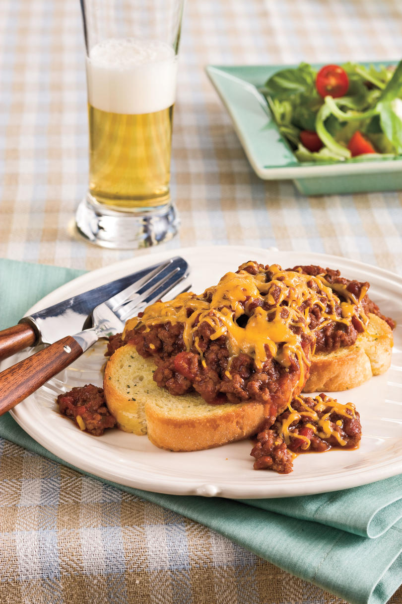 Ground Beef Recipes: Cheesy BBQ Sloppy Joes