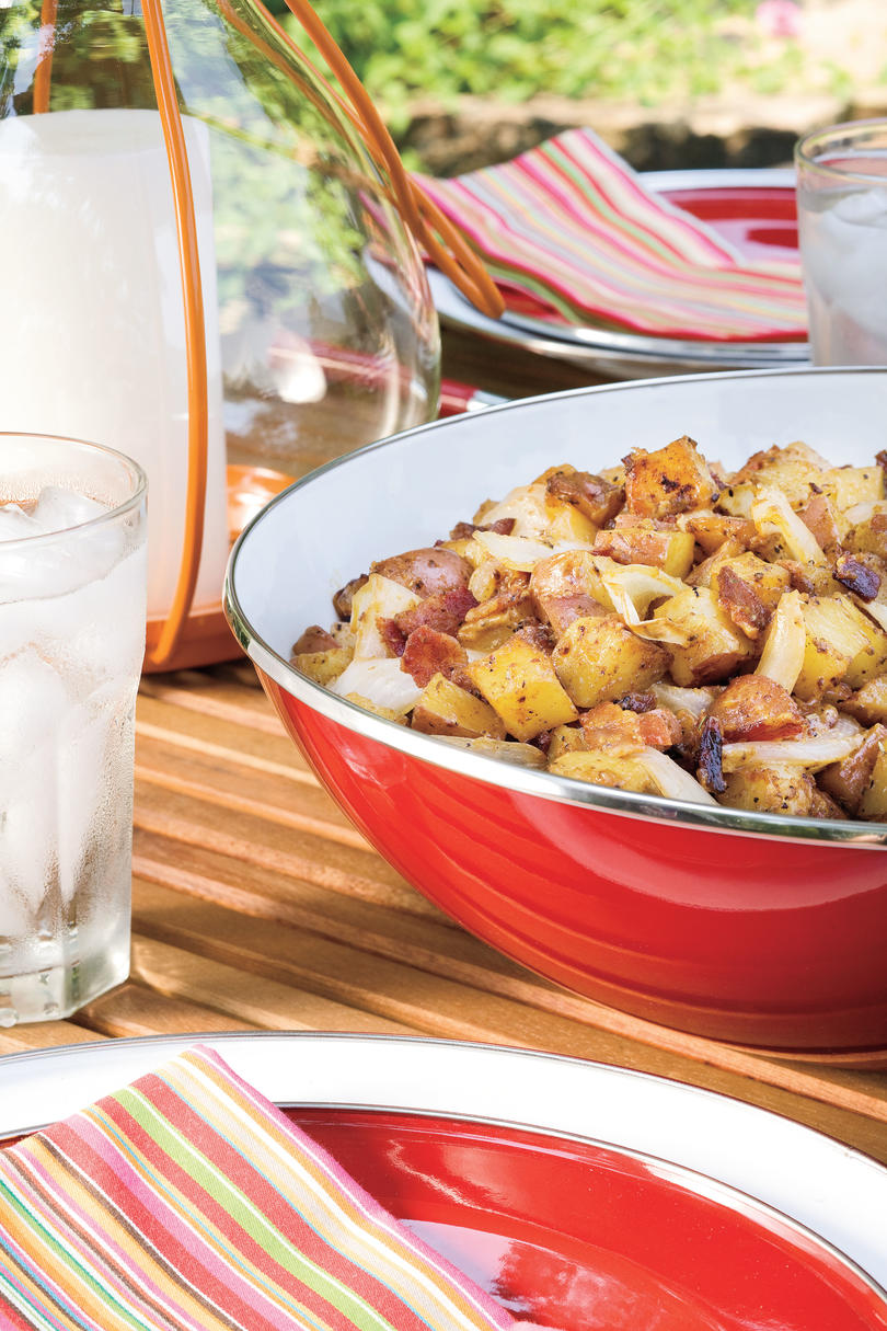 June: Grilled Potato Salad