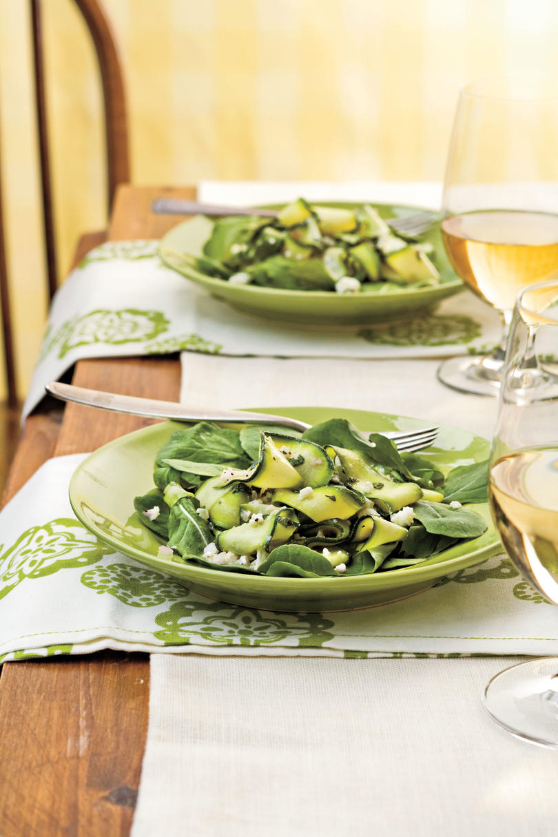 Zucchini Ribbons with Feta and Mint Recipe