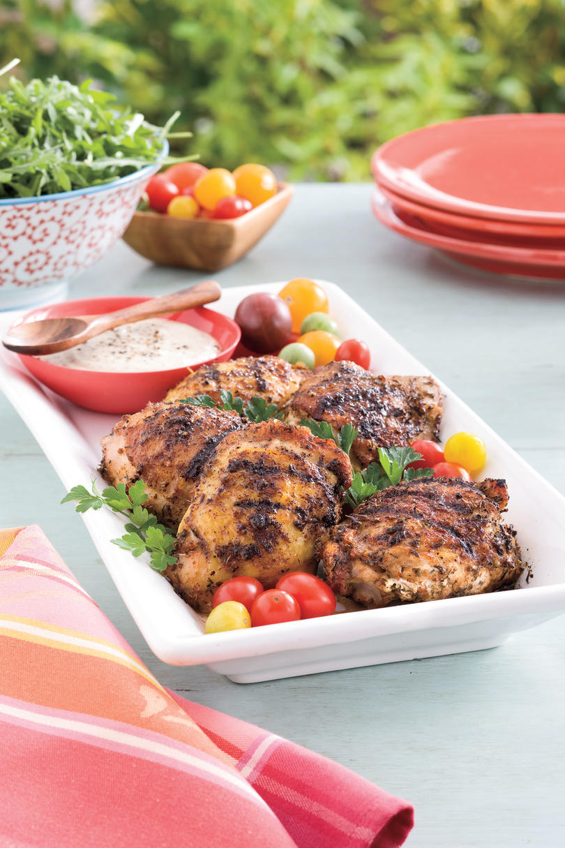 Easy weeknight grilling recipes southern living grilled chicken with white barbecue sauce forumfinder Gallery