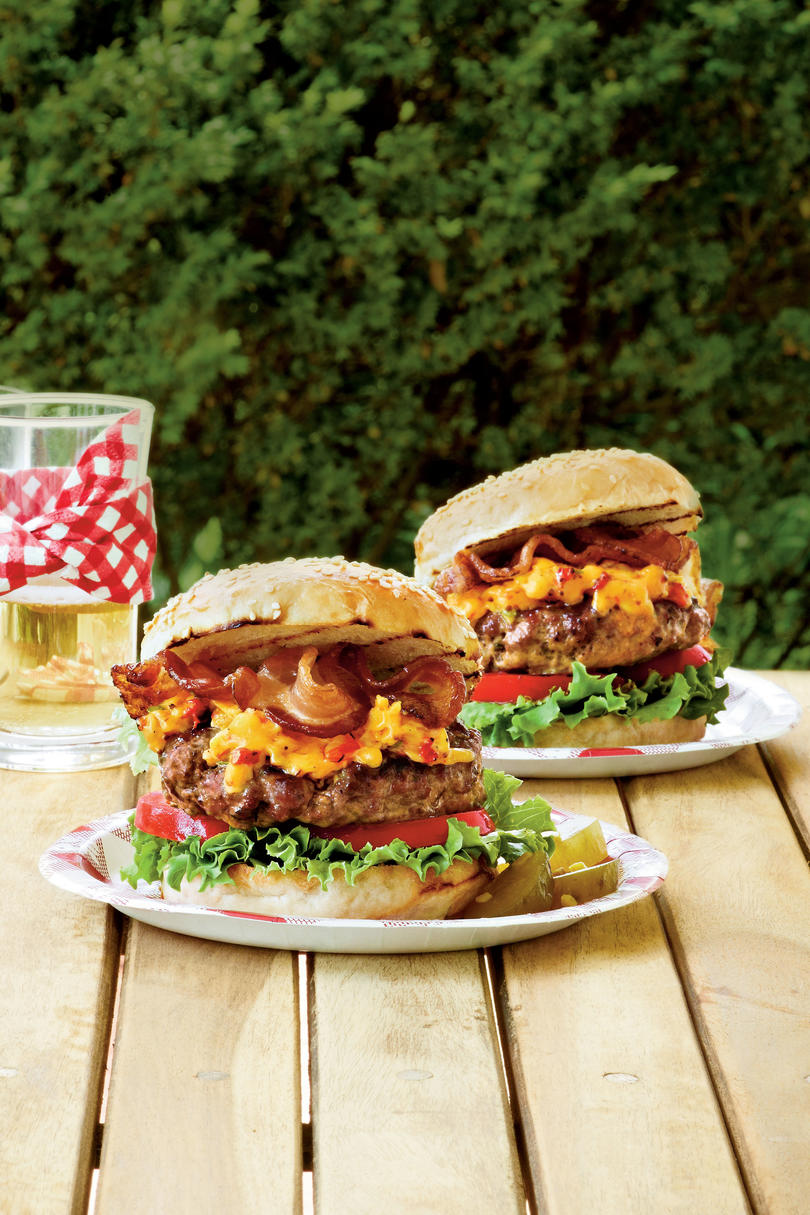 Pimiento Cheese-Bacon Burgers