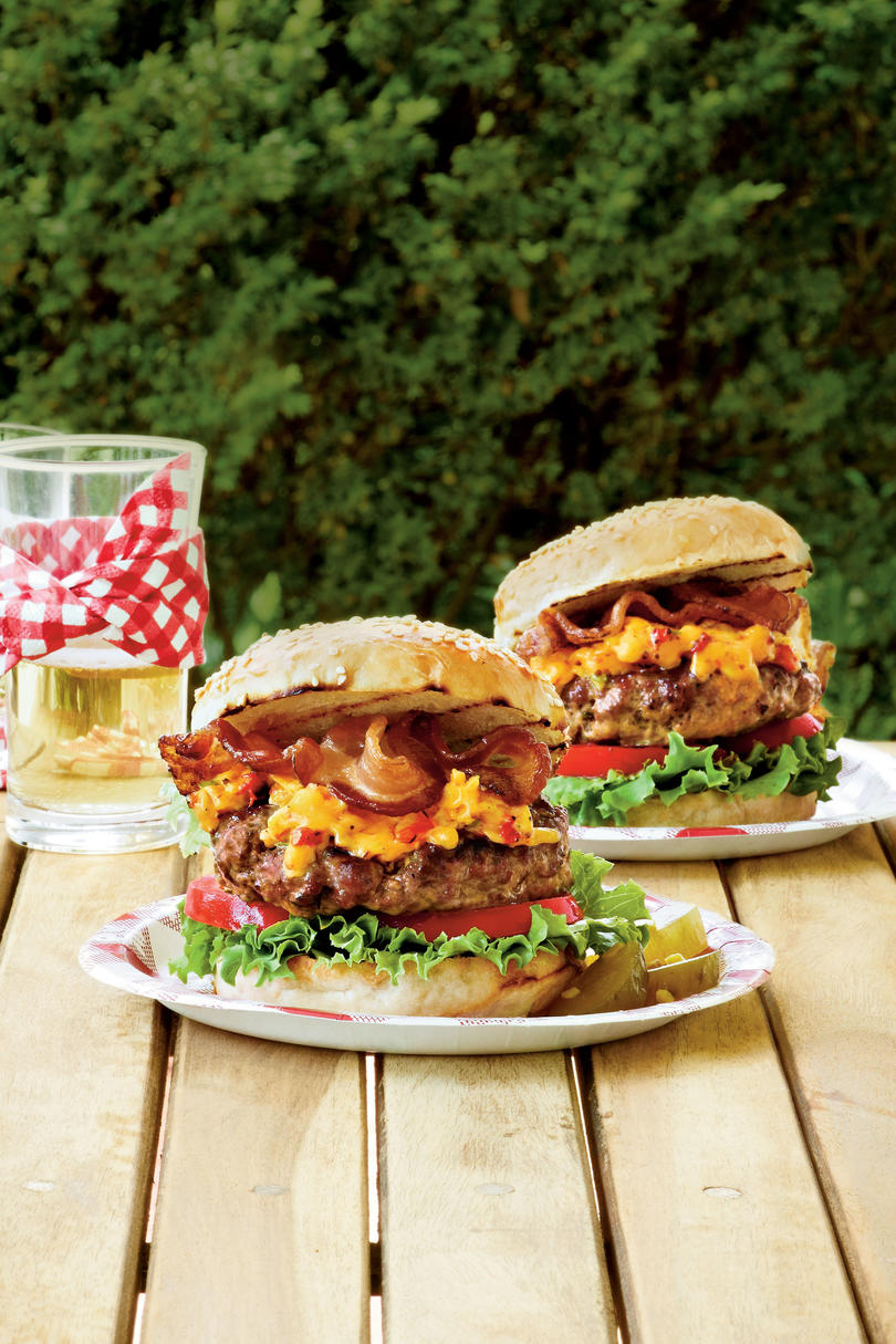 Pimiento Cheese-Bacon Burger